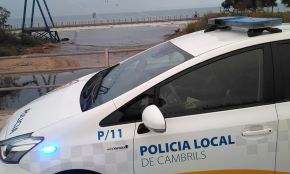 Detinguts dos homes amb antecedents delictius en un control de la Policia Local