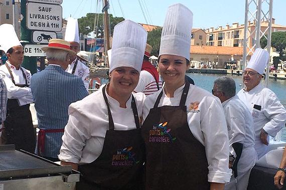 Ariadna Martí i Gessamí Caramés de l'Escola d'Hoteleria i Turisme guanyen el concurs de cuina de la Villa de Saint-Tropez - Revista Cambrils