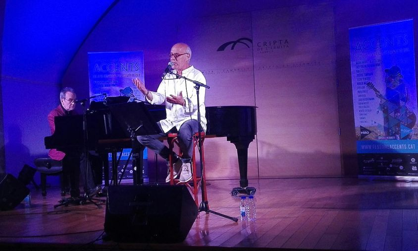 Concert del cantautor Joan Isaac, el passat diumenge al vespre